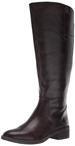 Franco Sarto womens Becky Wide Calf, Brown, 8