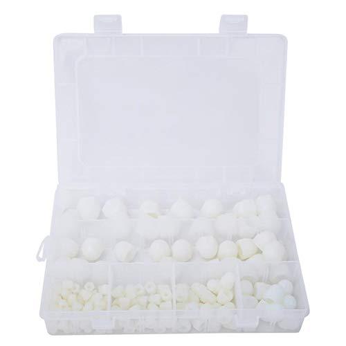 Bisagras del gabinete Cubierta 145pcs M4 / M5 / M6 / M8 / M10 / M12 de goma Hex Perno de la tapa de goma blanca Protección tuerca de tornillo Kit de accesorios Para gabinetes de cocina.