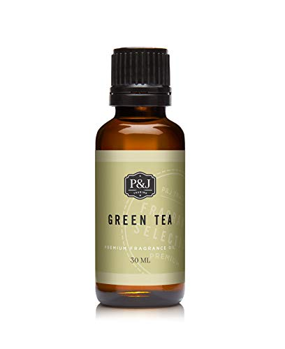 P&J Fragrance Oil   30ml Green Tea- Scented Oil for Soap Making, Diffusers, Candle Making, Lotions, Haircare, Slime, and Home Fragrance
