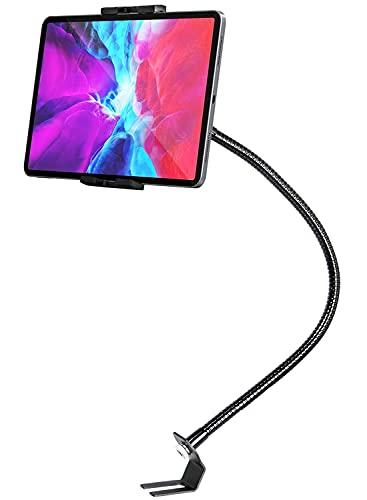 EXSHOW 車載ホルダー 前席タブレットホルダー 運転席 車シートレールマウント タブレットスタンドカーホルダー助手席タブレットスタンド 重型フレキシブル500mmアームスマホスタンド ipad車載ホルダー 360度回転 自由調節 日本語説明書付き タブレットとスマートフォン4~13インチ全機種対応 iPad Pro 9.7 11 12.9 インチ/iPad Air Mini 5 4 3 2/iPhone/Samsung Tab/Galaxy S Note/Sony など