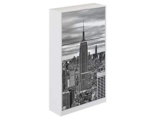 Movian Constance Modern - Armario zapatero de 3 puertas Nueva York, 25 x 75 x 128 cm (Nueva York)