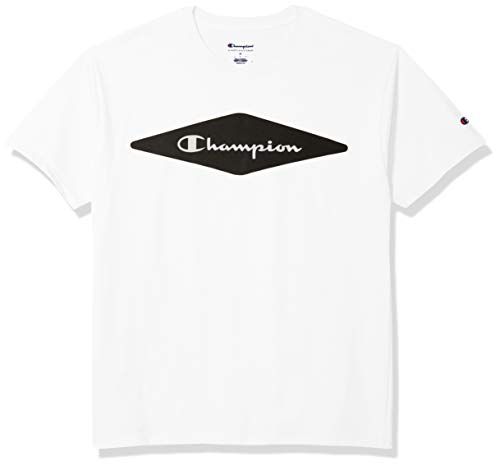 Champion - Playera de Manga Corta para Hombre, Color Blanco, M