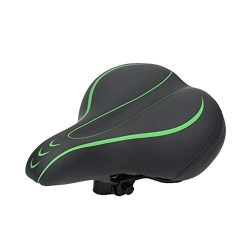 Axiba Comfort Bike Seat for Women or Men, Bicycle Saddle Replacement Padded Soft Dual Shock Absorbing - Best Stock Bicycle Seat Replacement for Mountain Bikes, Road Bikes (Green)