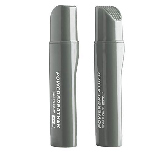 POWERBREATHER Speed Vent Easy L (Grey) - 13,7cm Langer Ventilaufsatz für AMEO Schnorchelset für Freiwasser, Welle, Schnorcheln (Zubehör - Immer frische Luft durch patentierte Ventiltechnik)