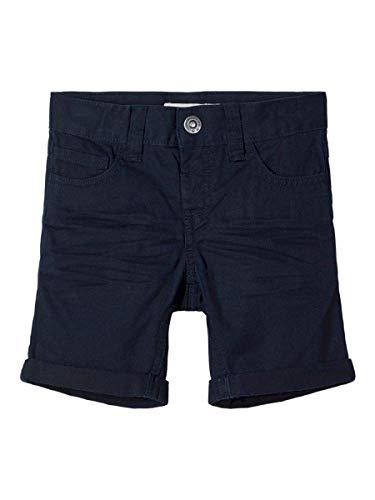 NAME IT Jungen NMMSOFUS TWIISAK Long Camp Shorts, Dark Sapphire, 104