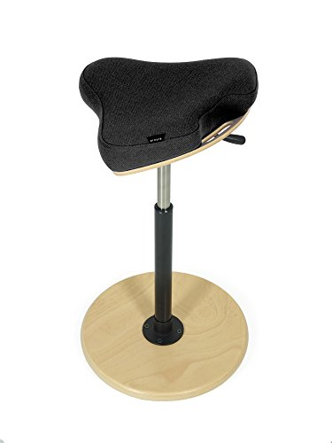 STEFF Stehhilfe - ergonomischer Stehstuhl - schwarz