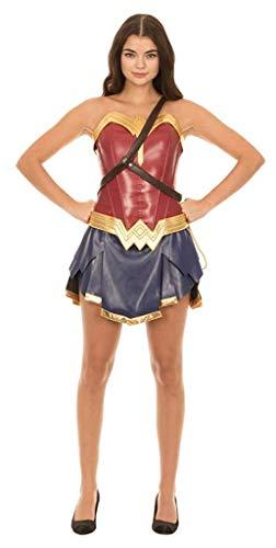 Dc Comics Wonder Woman Warrior Corset and Skirt Costume Set (Women's Medium)