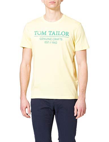 Tom Tailor 1021229 Basic Logo Camiseta, Pale 22564-Pale Straw Amarillo, XXL para...