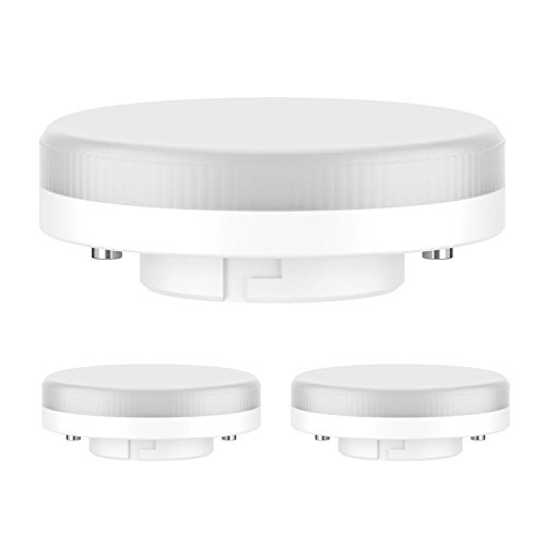 ledscom.de GX53 LED Bombilla 6,3W=40W 450lm 100° Blanca, 3 UDS