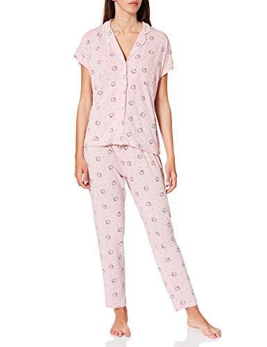 Women' Secret Short Sleeves Masculine Pyjama Pijama, Rosa, XL para Mujer