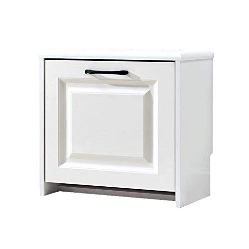 XLEVE Corridor Shoe Bench, White Lockers with Drawers, Wooden Shoe Storage, Suitable for Bathroom Living Room Corridor Entrance Living Room