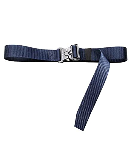Cinturón táctico militar de nailon de liberación rápida, para senderismo, al aire libre, correa de tela informal para hombres/mujeres, hebilla magnética con anillo en V