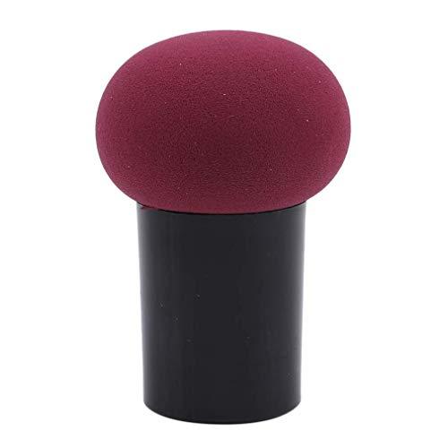 Ogquaton Éponge de maquillage en forme de champignon avec poignée pour BB crème, fond de teint - Vin rouge de haute qualité