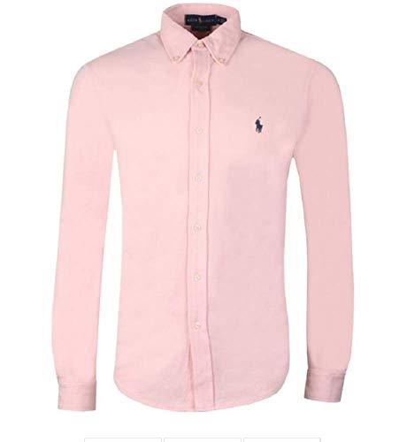Ralph Lauren Herren Featherweight Mesh Langarm Hemd - In vielen Farben (Pink, M)