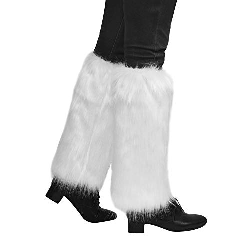 Nanxson Women Long Faux Fur Leg Warmer TTW0034 (white)