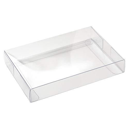 ササガワ オリジナルワークス 透明ボックス はがきサイズ 5Pセット 50-950