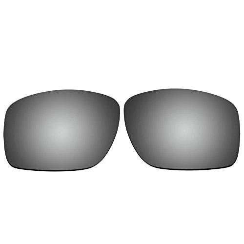 Acompatible OO9173 Ersatzgläser für Oakley Big Taco Sonnenbrille, Titanium Mirror - Polarized, S