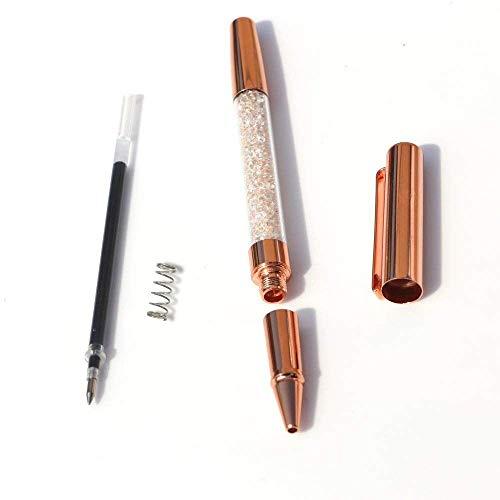 Rose Gold Pens, Gel Ink Roller Ball Pens Fine Point Black Ink Pens Rose Gold Office Supplies with 3 Extra Refills - 3 Pack (Gel Pen) Photo #2