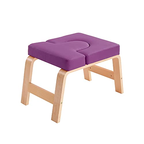 Restrial Life Yoga Headstand Bench Stand Yogastol för familj, gym - Trä- och PU-dynor - lindra...