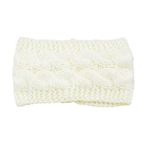 Single Trendy Soft Headbands for Womens Warm Knitting Bow Headband Elasticity Sports Yoga Gym Exercising Running Headband for Washing Face makeup (One Size,B)