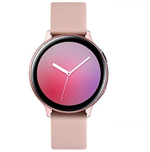 Samsung Galaxy Watch Active2 Explorer Edition, Fitnesstracker aus Aluminium, großes Display, ausdauernder Akku, wassergeschützt, 40 mm, inklusive 2x araree Schutzfolie, LTE, Gold