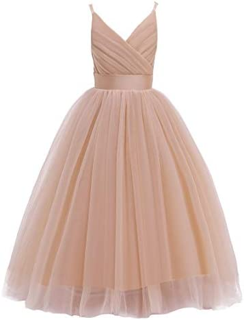 Glamulice Christmas New Year Flower Girl Dress Kids Lace Spaghetti Strap Tulle Dresses Wedding product image