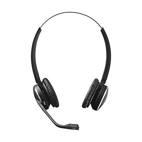 Jabra Pro 9465 Duo professionelles Wireless-DECT-Headset für Festnetztelefon/Handy/PC-Softphone, Touchscreen-Basis mit Bluetooth, abhörsicher