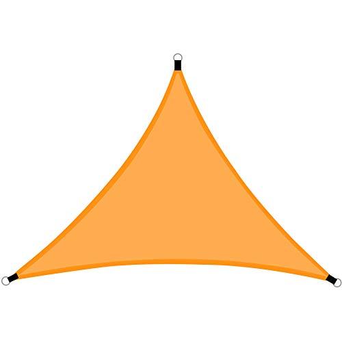 NecessitY Toldo Vela de Sombra Impermeable Lona Triangular de Sombra 3x3x3 Metros para Jardín Terraza Balcón, Protección contra Rayos UV