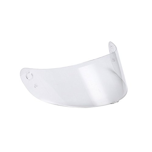 Triangle Clear Replacement Clear Visor Face Shield for Full Face Street Bike Motorcycle Helmet Model #TFF15 (One Size)