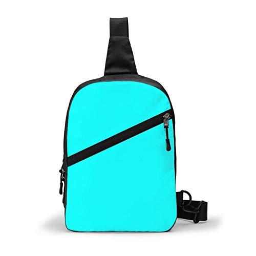 Hermosos cojines, bolsa de pecho, color cian, mochila cruzada para viajes al aire libre, senderismo, mochila para hombres y mujeres