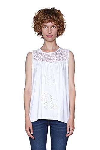 Desigual Ts_garance, Camiseta Para Mujer, Blanco (White 1000), X-Large