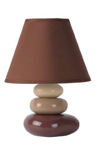 Lucide 14560/81/43 - Lampada da tavolo Karla, in ceramica e cotone, colore: Bruno