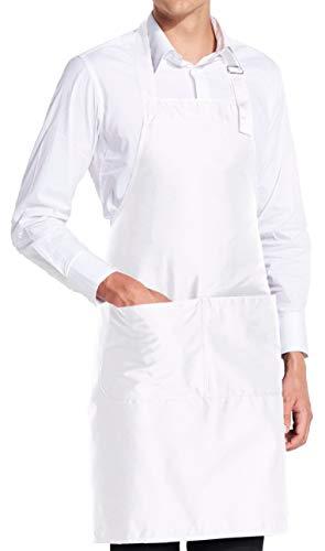 vanVerden - Premium Schürze - Weiß Blanko - Weiße Latz-Schürze