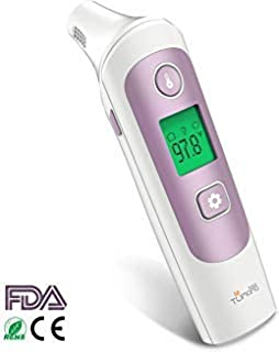 TUMAMA Thermometer for Fever Ear and Forehead Infrared Thermometer,  Digital Medical Infrared Thermometer with 32 Memories Suitable for Baby,  Infants,  Toddlers,  Adults,  Objects with FDA and CE Approved