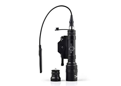 Night Evolution M620U - Lámpara táctica para airsoft LED, 450 lm, lámpara militar, con interruptor de presión y liberación rápida, riel de montaje Picatinny NE04026(negro)