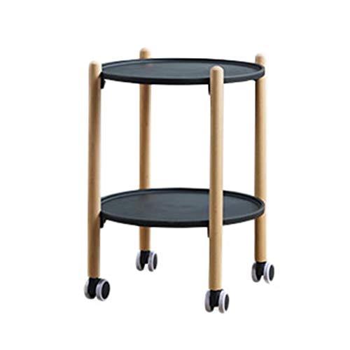 Beistelltische Teetisch Mit Roller Design Wohnzimmer-Sofa Seitenraum Display Rack Haushalts Speicher Corner Mehrere Haushaltsgegenstände (Color : B, Size : 56 * 41cm)
