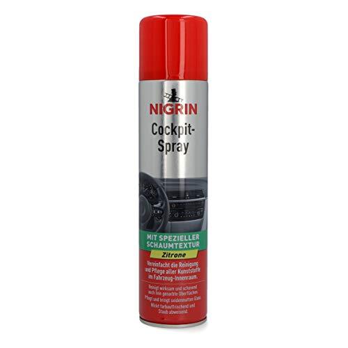 Nigrin 20464 Spray Zitrone Auto Innenreiniger für Cockpit, Polster, Leder, Innenraum, Armaturenbrett, Duftspray Lemon 400 ml