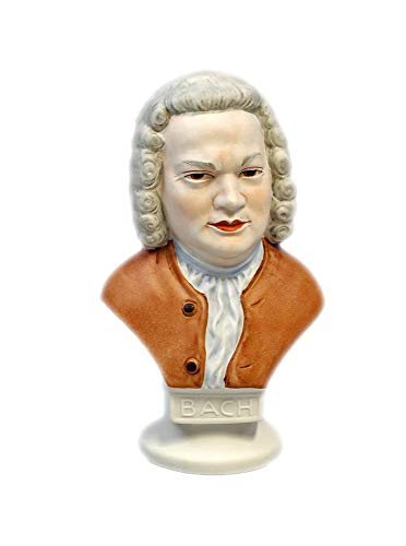 Wagner & Apel Büste Bach Bisquit bemalt
