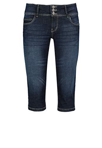 Sublevel Damen Capri Jeans Stretch-Hose aus Ring-Denim Dark-Blue XL