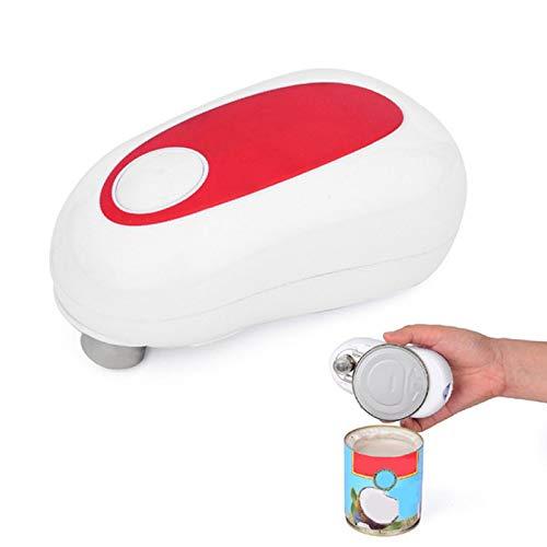 Apriscatole elettrico, apriscatole automatico portatile alimentato a batteria ergonomico palmare apriscatole per casa anziani e chef professionisti