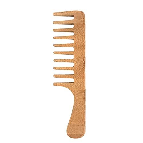 Capelli in legno Pettine in legno Dente Dente DETTAGGING DETTANGLING PORTAZZA PREZZATURA PRINCIPALE NO STATIC NO GRANGLE NO SNAG PRESC per capelli per capelli ricci e ondulati spessi
