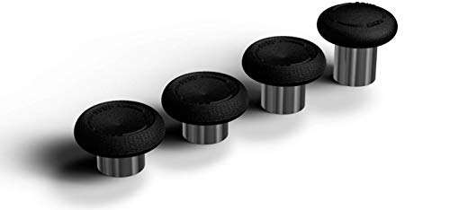 SCUF Elite Series 2 Performance Thumbsticks für Xbox Elite Series 2 (Verbesserte Griffigkeit, Komfort, Lange Haltbarkeit, Verschiedenen Optionen für Richtige Länge und für Handgröße) 4er-Pack, Schwarz