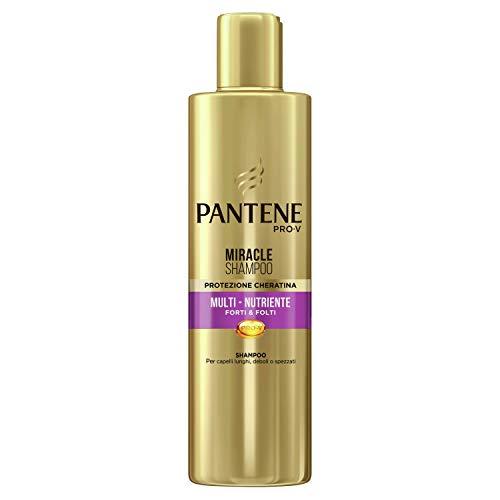 Pantene Pro-V Miracle Shampoo Protezione Cheratina Multi-Nutriente Forti & Folti per Capelli Lunghi, Deboli o Spezzati, 250 ml