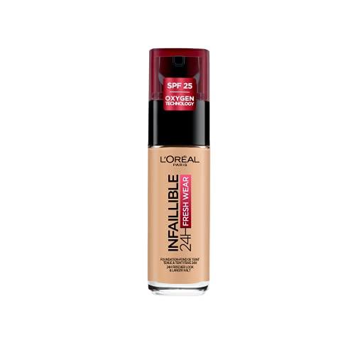 L'Oréal Paris Make-up designer 24H Fresh Wear Base de Maquillaje de Larga Duración , Tono 200 Sable Doré- 30 ml