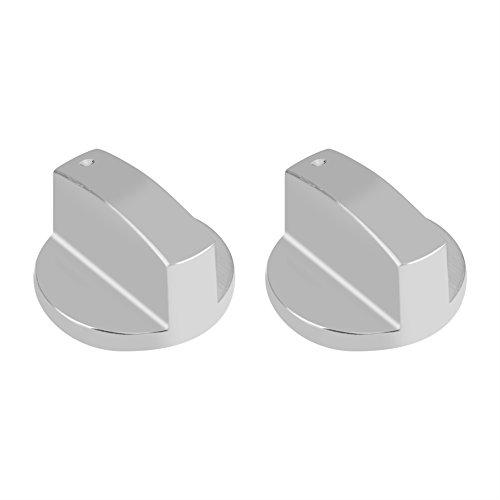 2Gasherd Knöpfe Küche Universal silber Metall Control Switch Knöpfe für Gasherd Ofen Herd 8mm