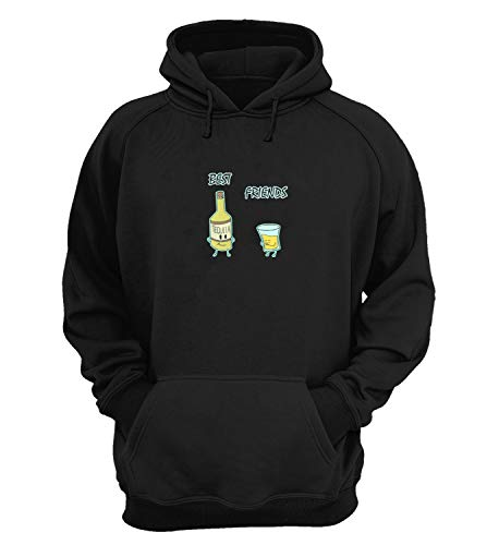 Best Friends Tequila Shot Party_KK020915 Hoodie Hooded Sweater Sweatshirt Christmas Gift Unisex Cotton - Black
