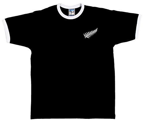 Old School Football New Zealand National Rugby Größen S-XXL Gesticktes Logo Mit Namen Und Nummer