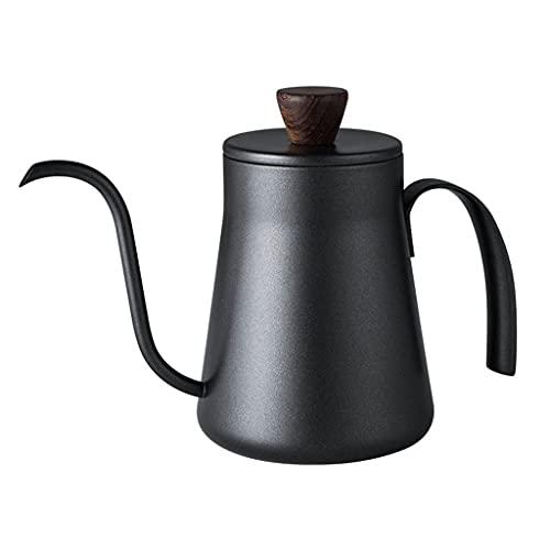 unknows Cafetera Hecha a Mano de Cuello de Cisne Negro de Boca Larga 400 ml Verter sobre cafetera de Cuello de Cisne Tipo Goteo