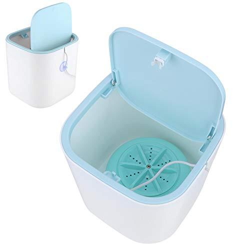 minifinker Mini Lavadora portátil, Lavadora de sobremesa de 3.8L de bajo Consumo, alimentada por USB con Tapa para Viajes en casa, Azul