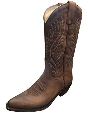 Sendra Cowboystiefel 2605 in braun incl. Roy Dunn´s Lederfett (44)